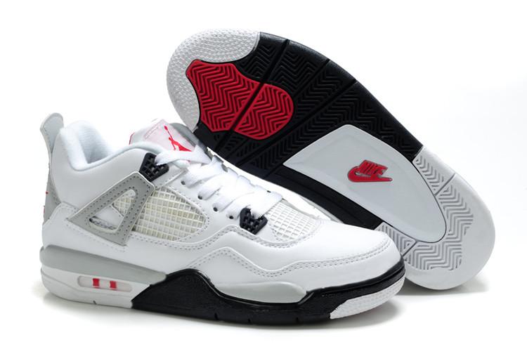 nouveaux styles 43f42 74597 Chaussure Air Jordan 4 Retro Pour Enfant Blanc 2212 [Basket ...