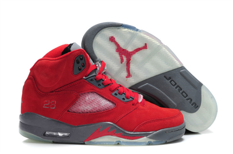 basket air jordan rouge