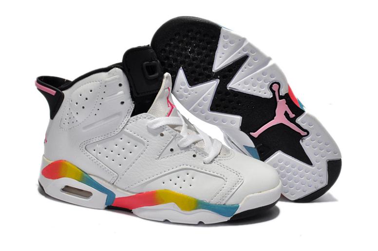 hot sale online eee4d 8af71 Air Jordan Enfant VI Basket Blanc