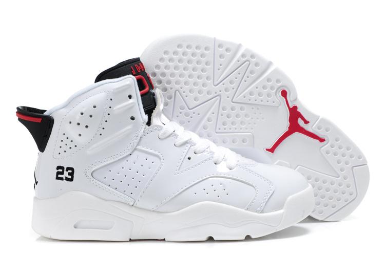 8cb5d1ca2e1d2 Basket Air Jordan 6 Enfant Pas Cher Blanc