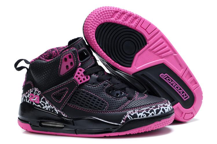 582a295c44141 Basket Air Jordan 3.5 Enfant Noir Rose