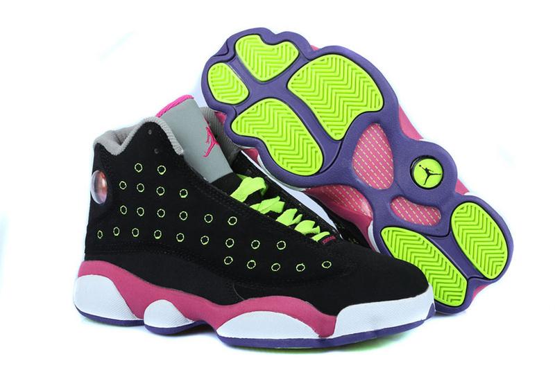 check out 50aaa 13379 Air Jordan XIII Femme Basket Noir Rose Blanc