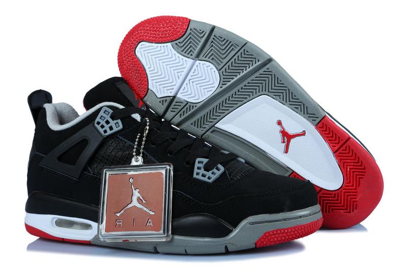 more photos 5ff7f 68cba Air Jordan IV Femme Basket Noir/Gris/Rouge
