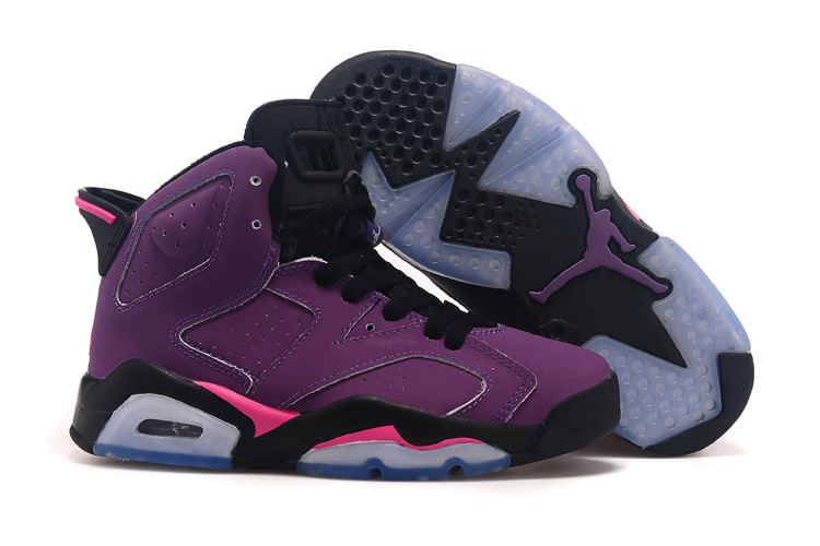 huge discount 9a8a2 0ca47 Air Jordan VI Femme Retro Basket Pourpre