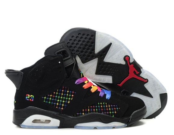 1359bb5dc5e Jordan Femme - Air Jordan Retro 6 Noir Rose  Air-Jordan-6-2204 ...