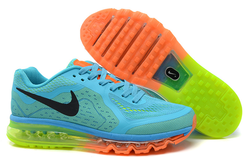 separation shoes 56a9b 593e4 Nike Air Max 2014 Homme BleuJauneOrange